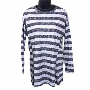 ASOS Striped Ribbed Flowy Tunic Size 6